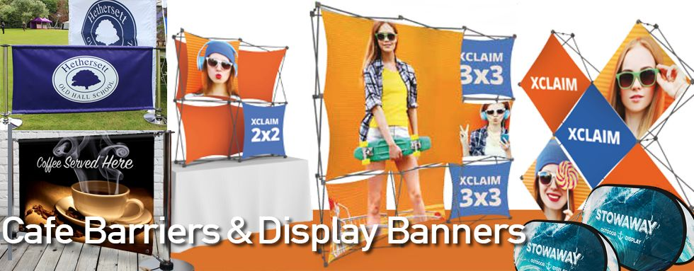 Cafe Barriers and Display Banner Printing
