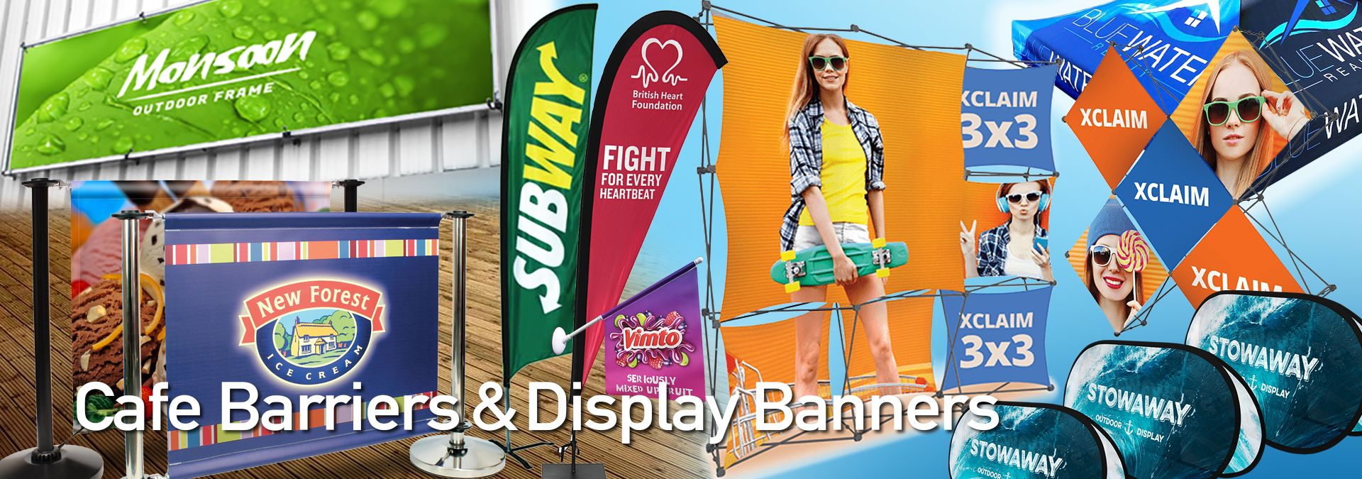 Cafe Barriers. Adfresco Cafe Barriers with Printed Banners. Exhibitions Graphics.