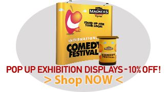 Pop Up Exhibition Display System. Pop Up Curve Display with Rostrum Special Offer.